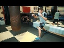 Как бить левый боковой на скачке / Техника самого сильного удара в боксе