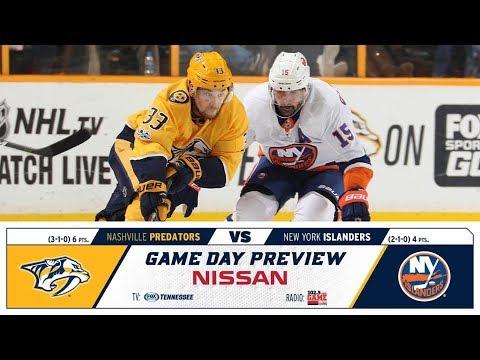 NHL 19 PS4. REGULAR SEASON 2018-2019 New York ISLANDERS VS Nashville PREDATORS. 10.13.2018. (NBCSN) !