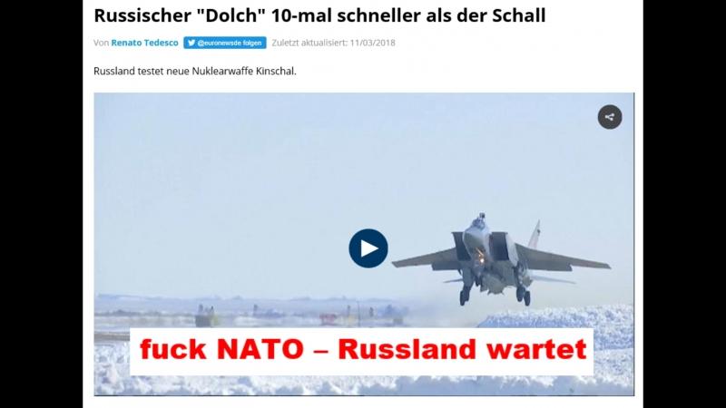 Dolch - Ruhm Ehre für Russland, nieder mit der NATO
