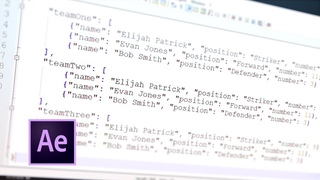 Tip 067 – How To Create & Use a JSON File in After Effects
