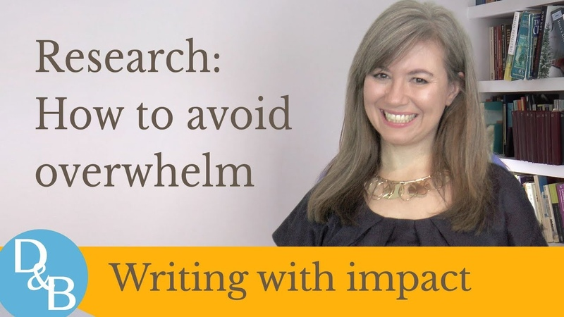 Research – how to avoid overwhelm