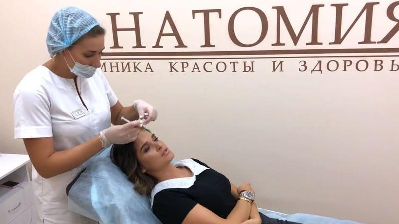 """Ксения Бородина on Instagram: """"Продолжаю курс процедур плазмотерапии в @anatomia_beauty_clinic . Очень довольна результатом: волосы стали меньше в..."""