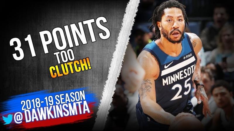 Derrick Rose Full Highlights 2019.01.20 TWolves vs Suns - 31 Pts, CLUTCH! | FreeDawkins