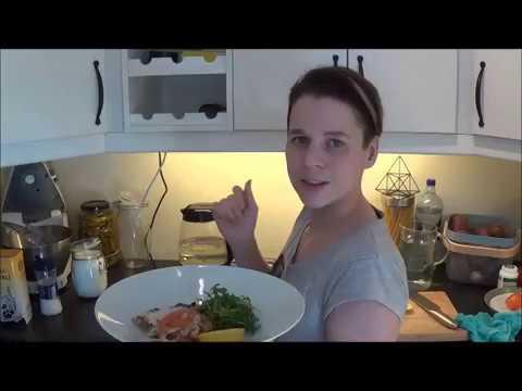 Пангасиус с оливками в духовке и салатом из маринованного фенхеля