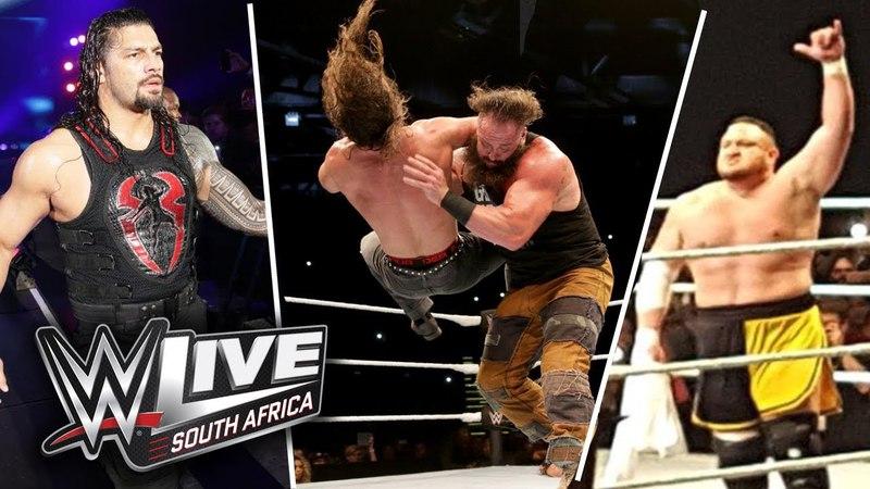 WWE Live Event South Africa 2018 Highlights Roman Vs Samoa, Strowman Vs Elias, Rollins, Balor More