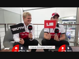 Sauber's Marcus Ericsson and Charles Leclerc | Grill the Grid: Truth or Lie
