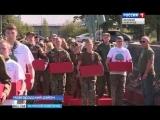 Сюжет телеканала Россия Великий Новгород о церемонии захоронения останков советских солдат в Новгородской области