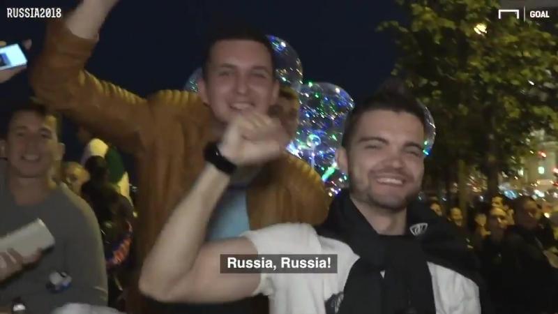 World Cup fans and the Saint Petersburg bridge raising