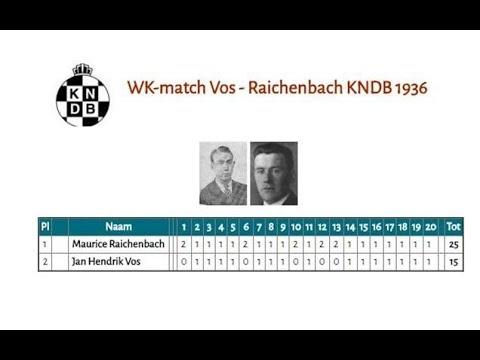 WK-match Vos - Raichenbach KNDB 1936