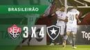 VITÓRIA 3 X 4 BOTAFOGO - GOLS - 23/09 - BRASILEIRÃO 2018