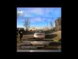 Урод-водитель не дал яжемамке с личинусами пройти по дороге