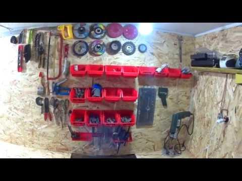 Мой гараж Ремонт и уборка гаража Repair in the garage Обустроил гараж под домом Стало уютно