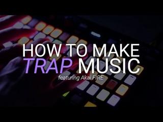 How To Make Trap Music - FL Studio Akai Fire Beat Making
