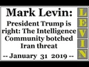 LEVIN: President Trump is right: The Intelligence Community botched Iran threat (January 31 2019)