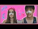 국제커플 마스크팩 도전Корейская косметика Nose Pack Trial Борьба с чёрными точками TONYMOLY