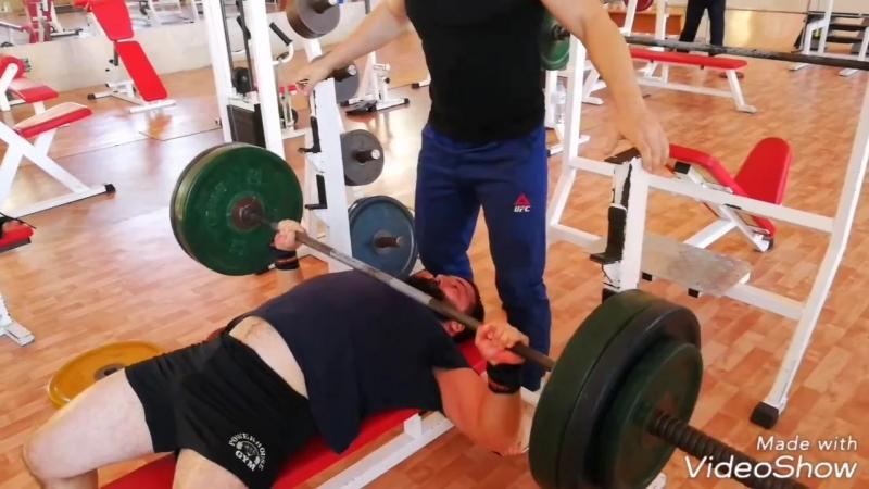 Андрей Гожев жим лежа 190 кг