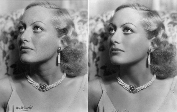 Как фотошопили, когда Photoshop и в помине не было: взгляните на звезд Голливуда и светских львиц до и после ретуши.