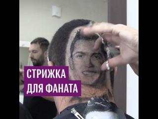 Сербский парикмахер создает