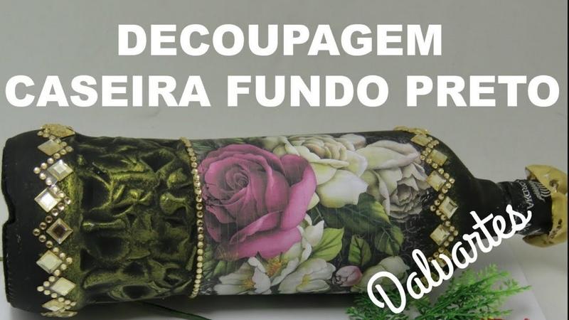 COMO FAZER DECOUPAGE CASEIRA FUNDO PRETO