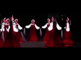 Russian folk dance in Siberia. Artists of LED show _CARE_