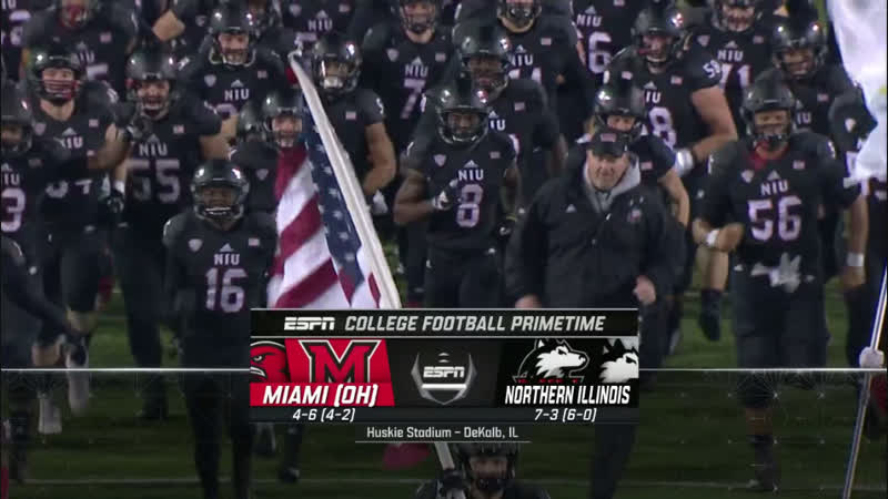 NCAAF 2018 Week 12 Miami (OH) RedHawks - Northern Illinois Huskies 1H EN