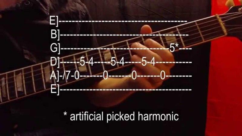 Learn ten really easy rock guitar riffs (with tab) HD
