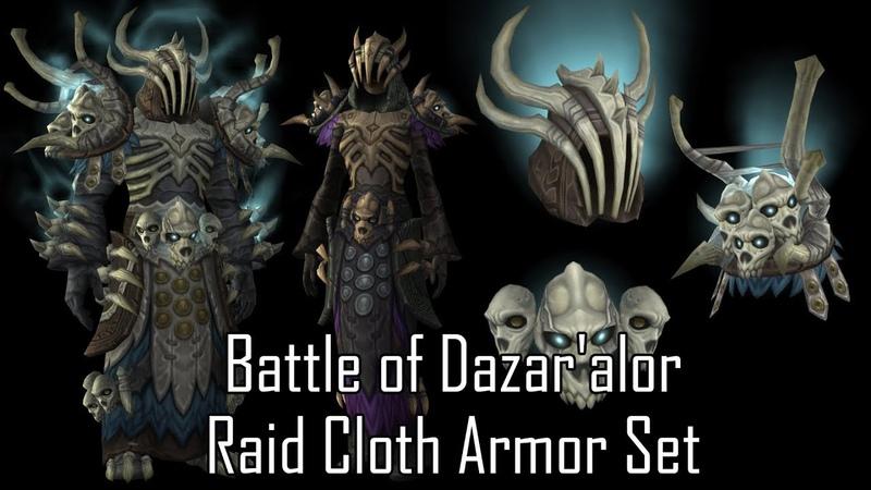 Battle of Dazar'alor Raid Cloth Armor Set