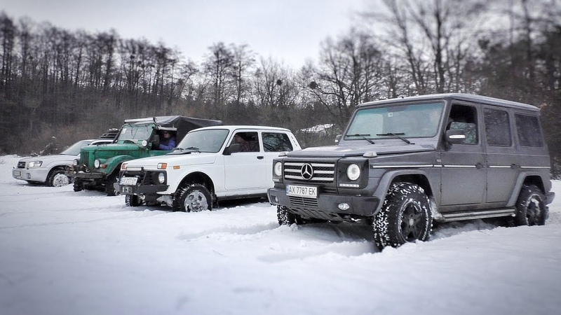 Off Road гонка Гелик vs Нива vs Subaru Forester vs ГАЗ 69