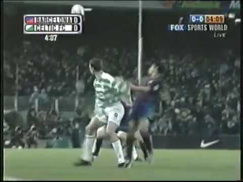 Barcelona vs Celtic-UEFA 2004-Full game-English audio.