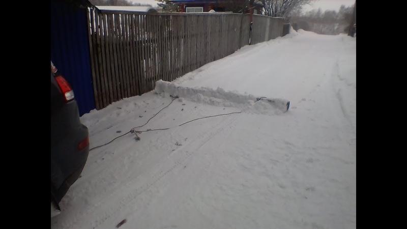 простой способ уборки снега на даче своими руками