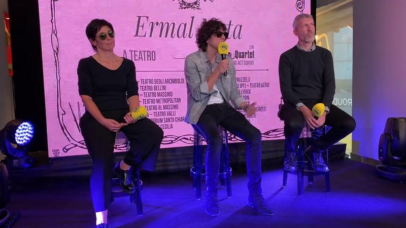 Ermal Meta presenta il tour teatrale con GnuQuartet in 2019