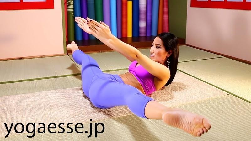 Straddle pose lifting through | Yoga for Beginners with Waka Yogi ~ヨガ初心者