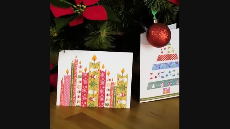 25 простых и милых идей новогодних открыток