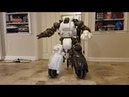 Giant Radio Controlled Fallout 4 Sentry Bot First Boot Up (With Sound)