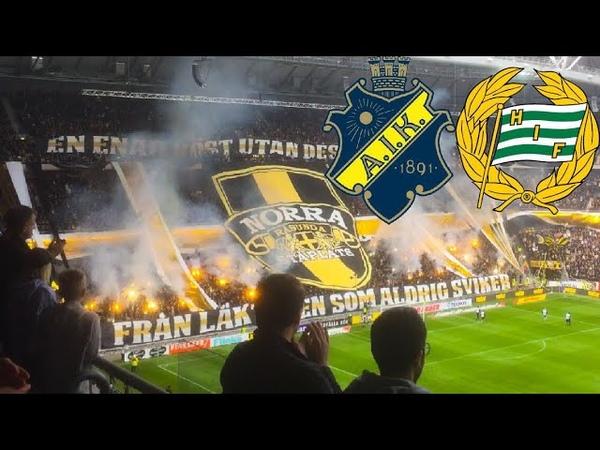 AIK vs Hammarby IF 1 0 23 9 2018 Åh vi e AIK tifon och ramsor Allsvenskan 2018