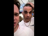 Robbie Williams Olly Murs Instagram stories june 9 2018