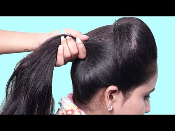 Easy Ponytail Hairstyle For PartyWedding 2019   Hair Style Girl   Easy Hairstyles For Long Hair