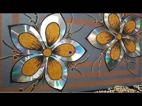 Artes com CD´s (FLORES) e(Canais sugeridos na descrição do vídeo)