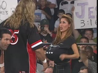 WCW Monday Nitro 25th October 1999 - Kevin Nash & Scott Hall (The Outsiders) vs The Vegas Vixens