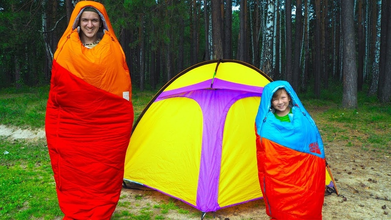 Челлендж 24 ЧАСА в Палатке возле Дремучего ЛЕСА Что то пошло НЕ ТАК 24 hour Challenge for kids