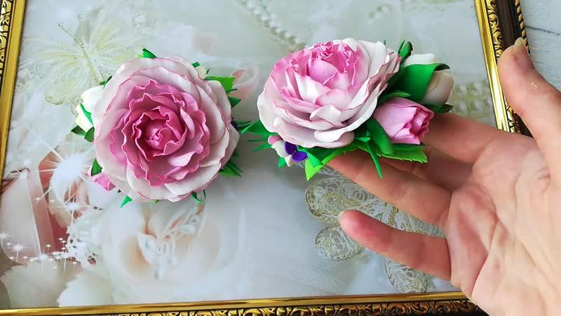 Розочки в нежном розовом цвете.