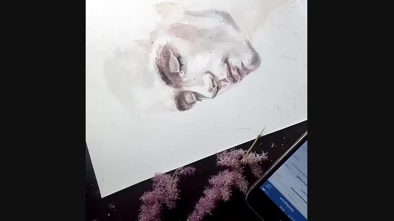 А4 цветной, портрет парня