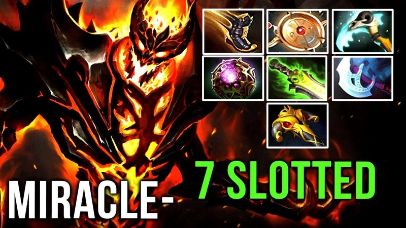 Miracle- Shadow Fiend WTF?! FULL-SLOTTED Beast Aeon Disk Magic Build vs MinD_ContRoL Mid - Dota 2