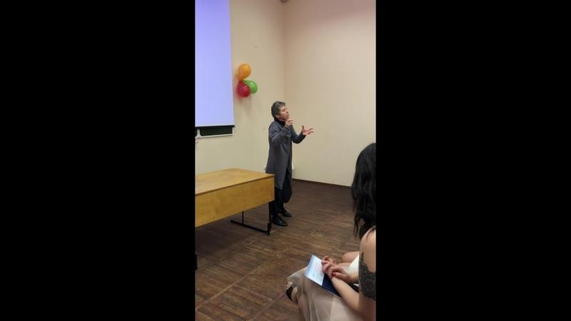 Светлана Сурганова читает стихи в РГПУ им. А.И. Герцена