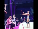 Полина Шматко отрабатывает булавы,Ирина Александровна Винер-Усманова Международный турнир юниорок Холон,Израиль 2018