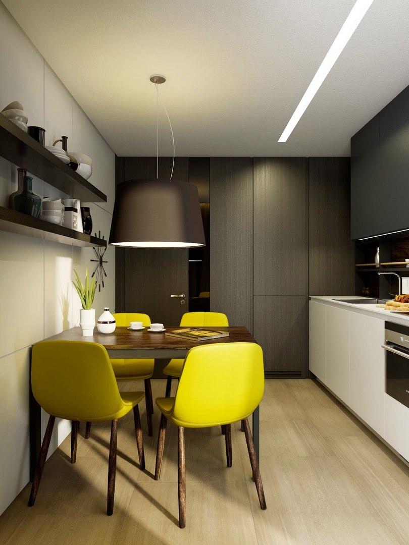 Кухонный интерьер 9 кв.