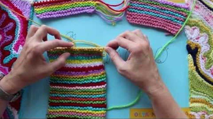 Вяжем спицами Как заправить кончики ниток
