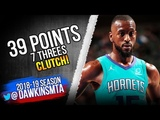 Kemba Walker Full Highlights 2018.10.20 Hornets at Heat - 39 Pts, 7 Threes, CLUTCH! FreeDawkins