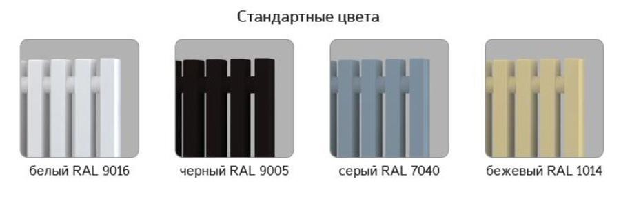 Стандартные цвета стальных трубчатых радиаторов Loten Grey