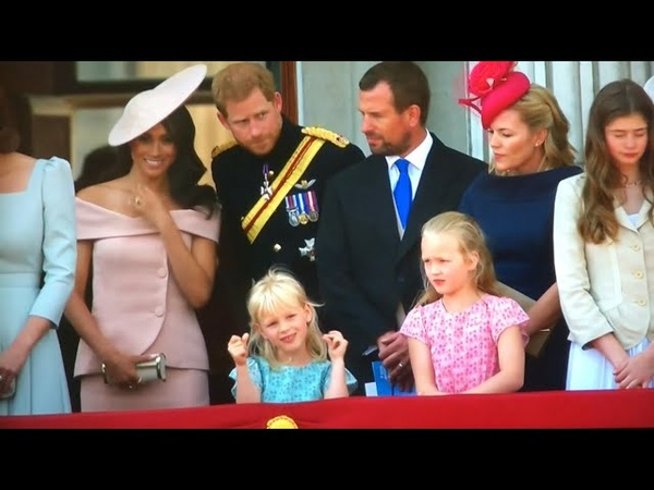 British Royal Family Depart Meghans BALCONY DEBUT ALL MOMENTS - Trooping The Colour 2018
